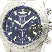 Breitling Polished Breitling Blackbird Steel Automatic Mens...