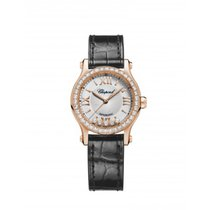 Chopard Ladies 274893-5002 Happy Sport 30 mm Auto Rose Gold...