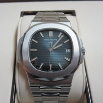 Patek Philippe Nautilus Stainless Steel Watch/Black-Blue Dial