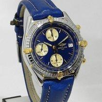 Breitling Chronomat Blu Cinturino Pelle Originale