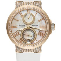 Ulysse Nardin MARINE CHRONOMETER LADY Pink Gold Rubber White...