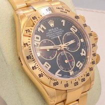 Rolex Daytona 116528 18k Yellow Gold Blue Dial Cosmograph Box...