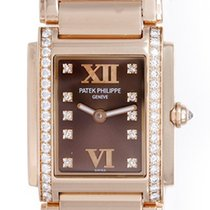 Patek Philippe Twenty-4 Mini 18k Rose Gold Diamond Ladies...