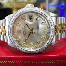 Rolex Oyster Perpetual Datejust Diamonds Yellow Gold Stainless...