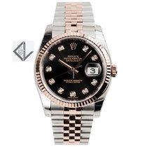 Rolex Datejust 36 Steel And Everose Gold Black/diamonds...