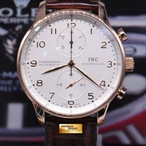 IWC Portuguese Chronograph 18k Rose Gold Iw371480 White...