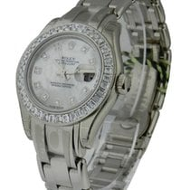 Rolex Unworn 80309br White Gold Pearl Master with 40 Baguette...