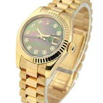 Rolex Unworn 179175_blk_mop_dd Rose Gold Ladys President with...