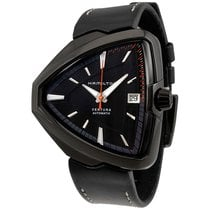 Hamilton Ventura Elvis 80 Black Dial Leather Strap Mens Watch...