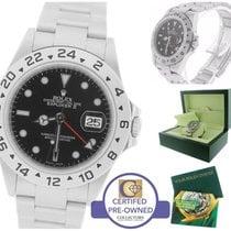 Rolex Explorer II 16570 T V 3186 Black Date GMT 40mm Watch