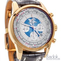 Breitling Transocean Unitime Chronograph Watch 18k Rose Gold...