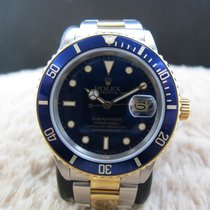 Rolex SUBMARINER 16803 2-Tone Blue Dial with Blue Bezel