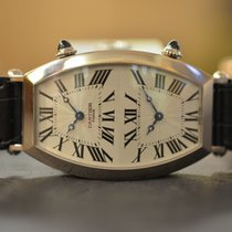 Cartier Tonneau Collection Privée Dual Time Oro Bianco