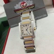 "Cartier Tank Francaise / Stahl  /"" 2 -Tone Uhr ""( Band..."