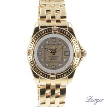 Breitling Cockpit Lady Yellow Gold MOP Dial With Diamonds