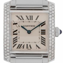 Cartier Tank Francaise Steel Midsize Diamond WSTA0005 (2301)