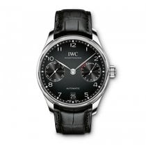 IWC Portugieser Automatic 7 Day Power Reserve Black Dial...