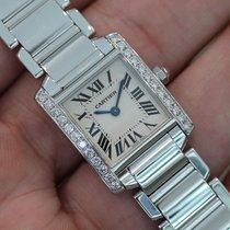 Cartier Ladies Tank Francaise 18k White Gold W/ Diamonds...