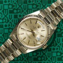 Rolex Day-Date 18239 white gold DQ President sapphire 1990