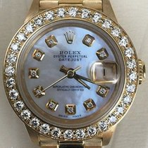 Rolex Ladies President 18k Gold 26 Mm Mother Of Pearl Diamond...
