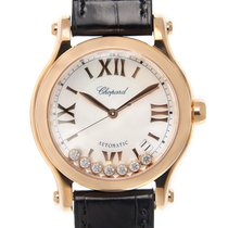 Chopard Happy Sport 18k Rose Gold White Automatic 274808 5008