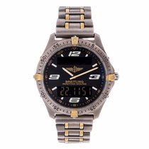 Breitling Aerospace Titanium Black Dial Watch F65362 (Pre-Owned)