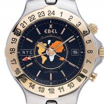 Ebel Sportwave Meridian Weltzeituhr GMT Stahl 18kt Gelbgold...