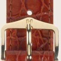 Hirsch Uhrenarmband Leder Crocograin goldbraun M 12302870-1-18...
