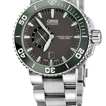 Oris Aquis Small Second, Date, Ceramic Top, Steel, Grey