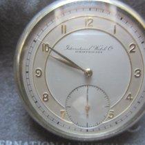 IWC Taschenuhr Stahl 1938 Duotone Zifferblatt Cal. 67