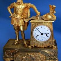 Very fine French EMPIRE Mantel Clock HENRY IV  Fire Gilt Bonze...