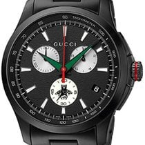 Gucci Chronograph G-Timeless Extra Large PVD Black Dial R