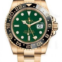 Rolex GMT Master II 18ct Gold Green Dial 116718LN