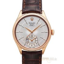 Rolex Cellini Dual Time 50525 Everose-Gold Zifferblatt Silber