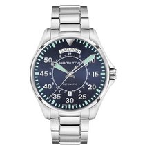 Hamilton Men's H64615145 Khaki Aviation Pilot Day Date...