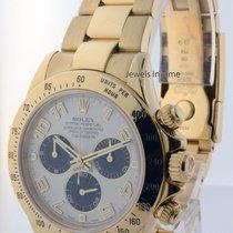 Rolex Daytona 18k Yellow Gold Panda Dial Chronograph Mens Auto...
