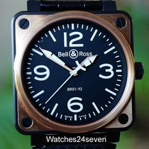 Bell & Ross BR01-92 Aviation Carbon & Pink Gold &...