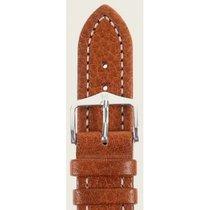 Hirsch Uhrenarmband Leder Buffalo goldbraun M 11350275-2-22 22mm