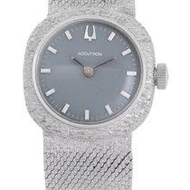 Additional Brands Accutron Bulova 14K White Gold Watch