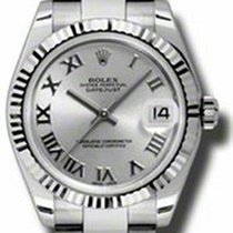 Rolex Datejust Ladies Midsize 178274-SLVRFO Silver Roman White...