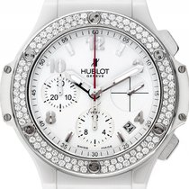 Hublot Big Bang Stahl Keramik White Diamond Automatik Chronogr...