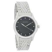 Gucci 126 G-Timeless Unisex Diamond Swiss Quartz Watch YA126408