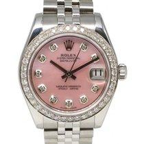 Rolex Datejust 178240 Ladies 31mm Midsize Diamond Pink Mother...