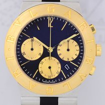 Bulgari Diagono Chronograph 18 K Gold/Stahl Date Kautschukband...