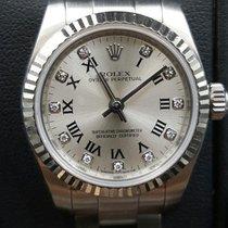 Rolex Oyster Perpetual 176234 26mm Steel 18k Fluted Bezel...