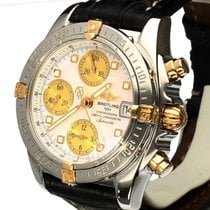 Breitling Chrono Cockpit Gold Steel Mother of Pearl Dial 40 mm