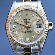 Rolex Ladies Datejust 69163 2tone Diamond Dial 26mm 18k Yellow...