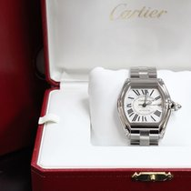 Cartier Roadster 2510 W62025v3 Large Silver Dial Stainless...