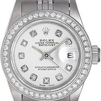 Rolex Ladies Datejust Stainless Steel Diamond Watch 69190...