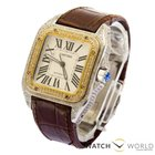 Cartier Santos XL Stainlees steel Yellow Gold Diamonds